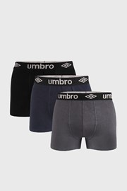 3 PACK bokserica Umbro Organic cotton