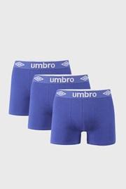 3 PACK plavih bokserica Umbro BIO
