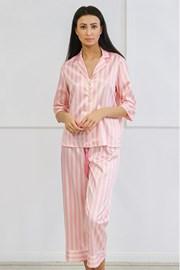 Satenska pidžama Ashley duga