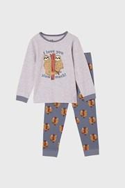 Pidžama za dječake Ljenjivac dugačka