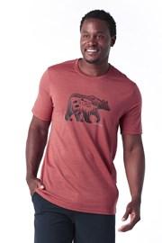 Muška majica SMARTWOOL Merino 150 crvena