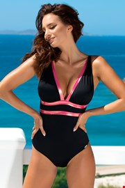 Ženski jednodijelni kupaći kostim Beryl Black Rose