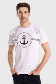 Bijela majica Captain Blues