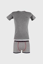 Sivi komplet bokserica i majice za dječake