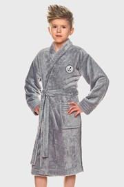 Ogrtač za dječake Elegant sivi
