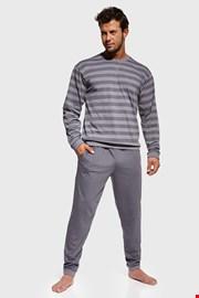 Siva prugasta pidžama Loose