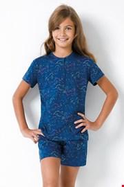 Pidžama za djevojčice s jednorozima plava II