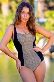 Ženski jednodijelni kupaći kostim Safari khaki