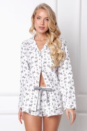 Ženska flanel pidžama Serene kratka