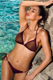 Ženski dvodijelni kupaći kostim Verona bordo