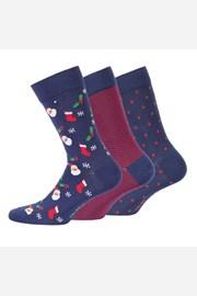 3 pack muške čarape s uzorkom 998