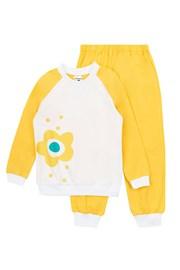 Pidžama za djevojčice Flower Yellow