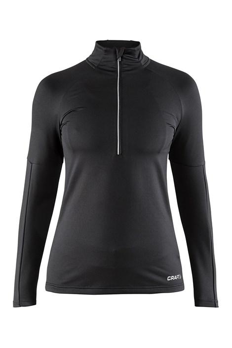 Ženska funkcionalna sportska majica s ovratnikom CRAFT Prep Black