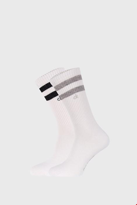 2 PACK bijelih čarapa Calvin Klein Maurice