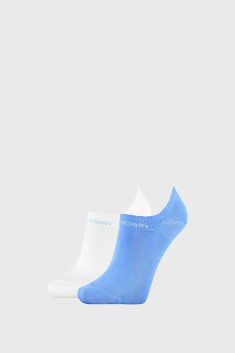 2 PACK ženskih čarapa Calvin Klein Leanne plavo-bijele