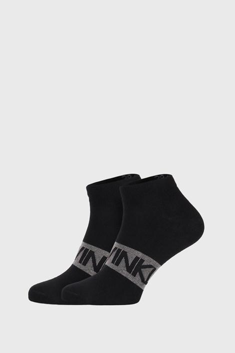 2 PACK crnih čarapa Calvin Klein Dirk