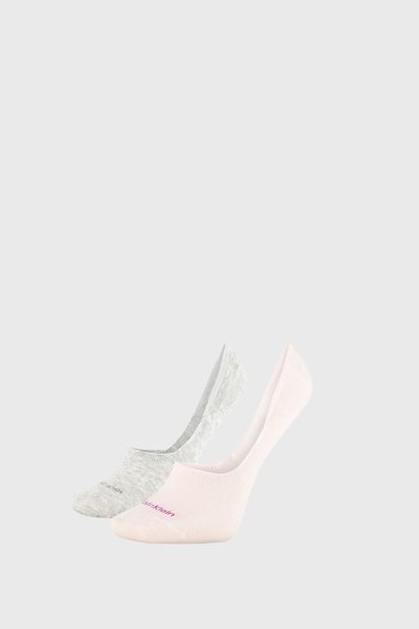 2 PACK ženskih čarapa Calvin Klein Jessica sivo-ružičaste
