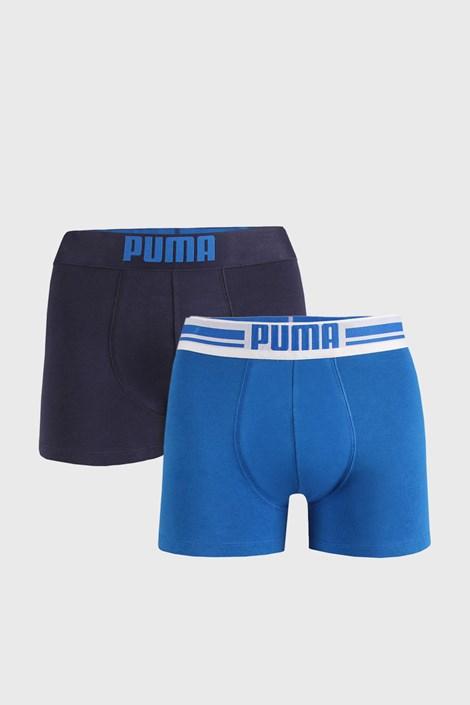 2 PACK plavih bokserica Puma Placed Logo