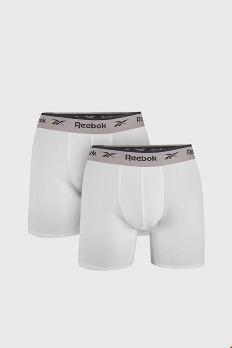 2 PACK bijelih bokserice Reebok Basic Sport