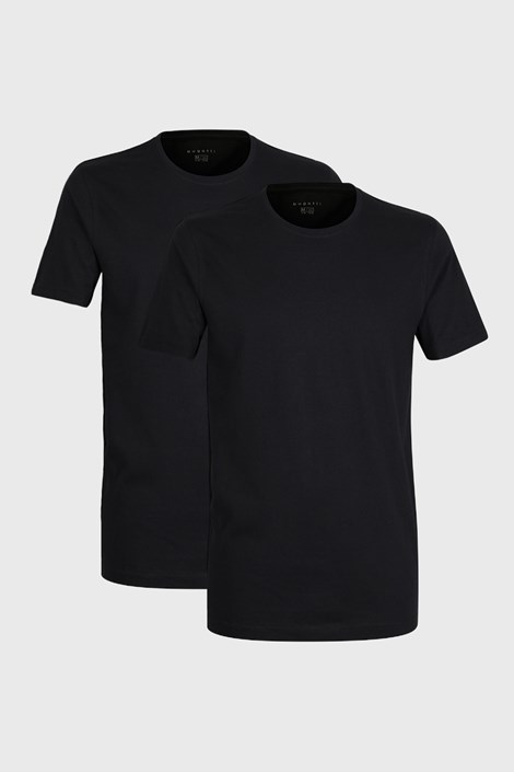 2 PACK crnih majica kratkih rukava bugatti O-neck