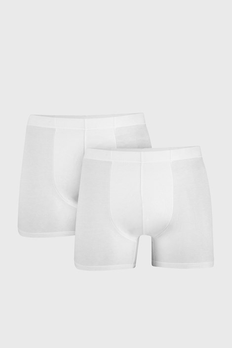 2 PACK muških bokserica Uomo Cotton bijele