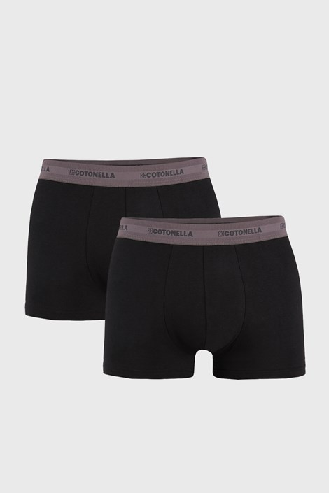 2 PACK muških bokserica Uomo Comfort crne