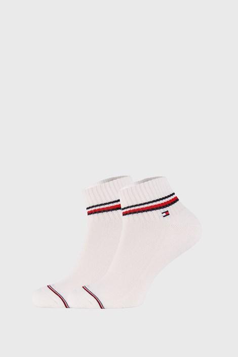 2 PACK bijelih čarapa do gležnja Tommy Hilfiger Iconic