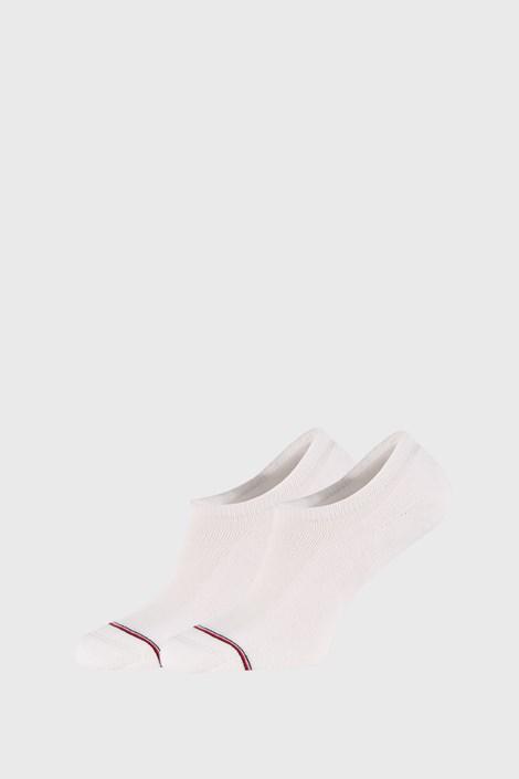 2 PACK bijelih niskih čarapa Tommy Hilfiger Iconic