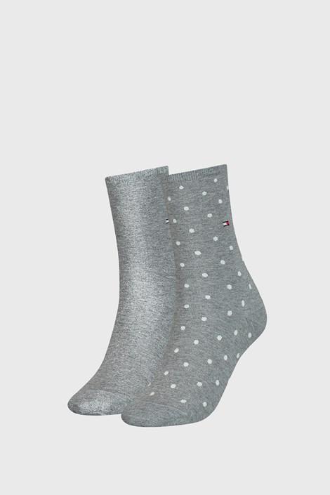 2 PACK ženskih čarapa Tommy Hilfiger Dot Grey