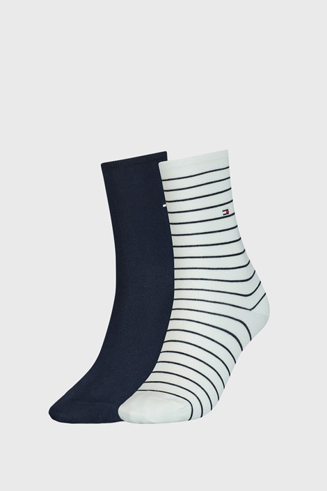 2 PACK plavo-bijelih ženskih čarapa Tommy Hilfiger Stripes