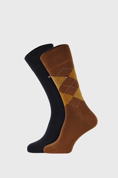 2 PACK kaki čarapa Tommy Hilfiger Check