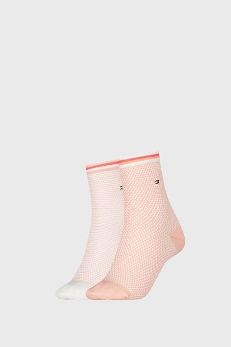 2 PACK ženskih čarapa Tommy Hilfiger Honeycomb Coral