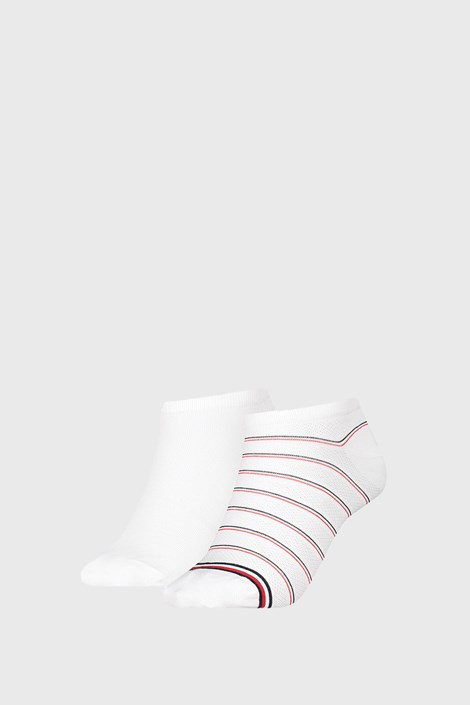 2 PACK ženskih čarapa Tommy Hilfiger Preppy White