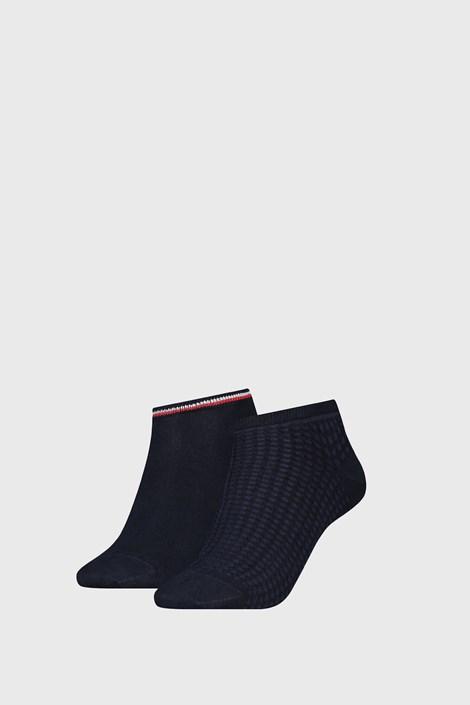 2 PACK ženskih čarapa Tommy Hilfiger Waffle Navy