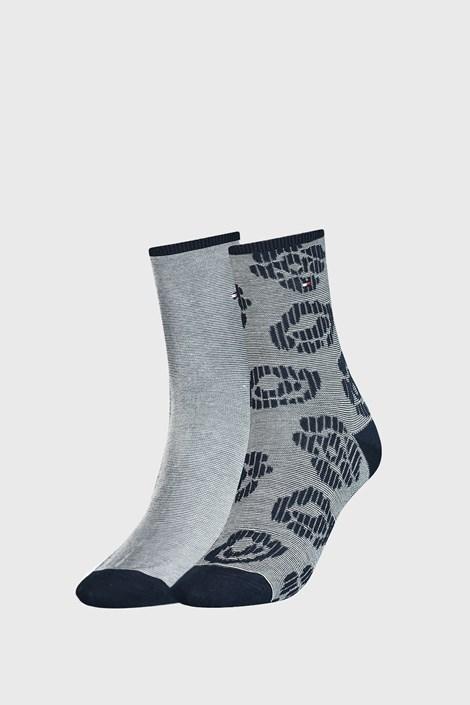 2 PACK plavih ženskih čarapa Tommy Hilfiger Flower