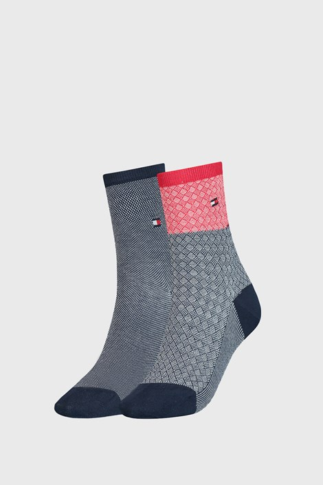 2 PACK ženskih čarapa Tommy Hilfiger Argyle III