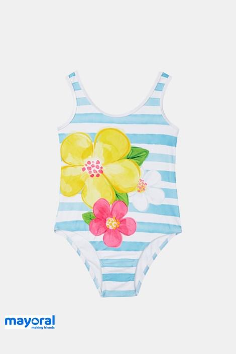 Jednodijelni kupaći kostim Mayoral plavobijeli