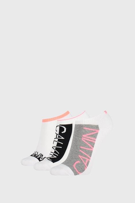 3 PACK ženskih čarapa Calvin Klein Nola bijele