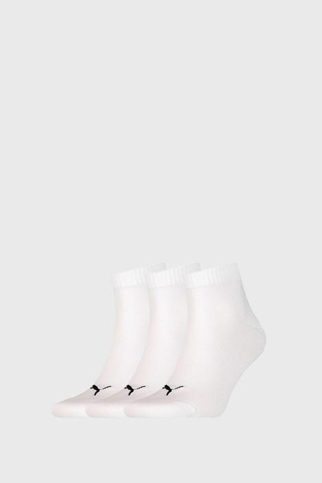 3 PACK bijelih čarapa Puma Quarter Plain