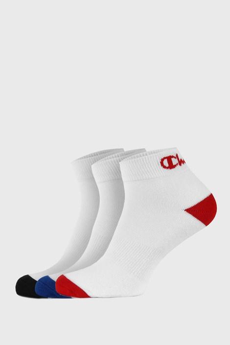 3 PACK bijelih čarapa do gležnja Champion