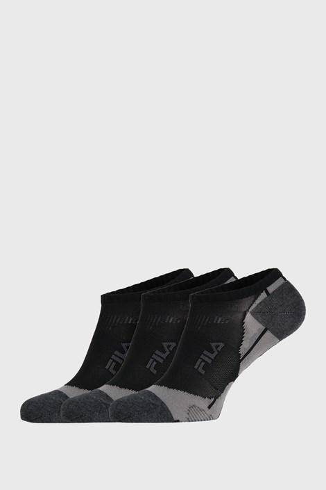 3 PACK crnih čarapa FILA Invisible