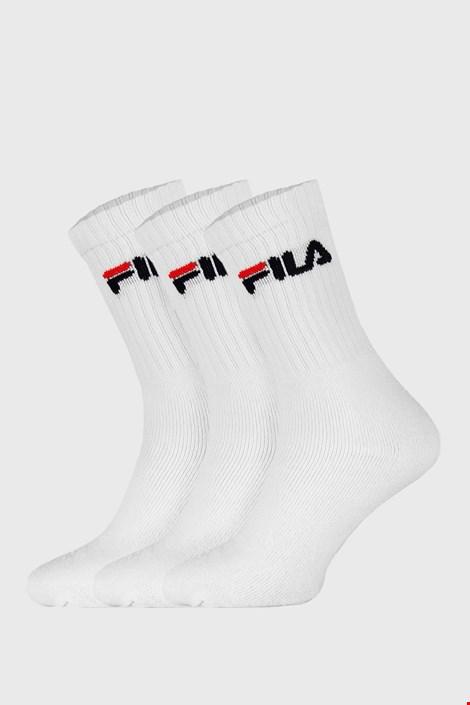 3-PACK bijelih visokih čarapa FILA