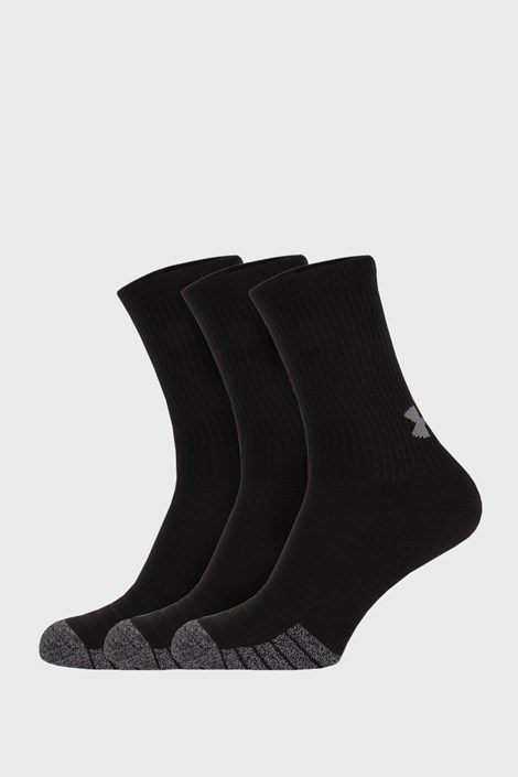 3 PACK visokih crnih čarapa Under Armour