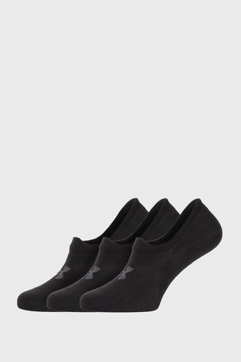 3 PACK crnih niskih čarapa Under Armour