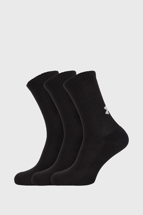 3 PACK visokih crnih čarapa Core Under Armour