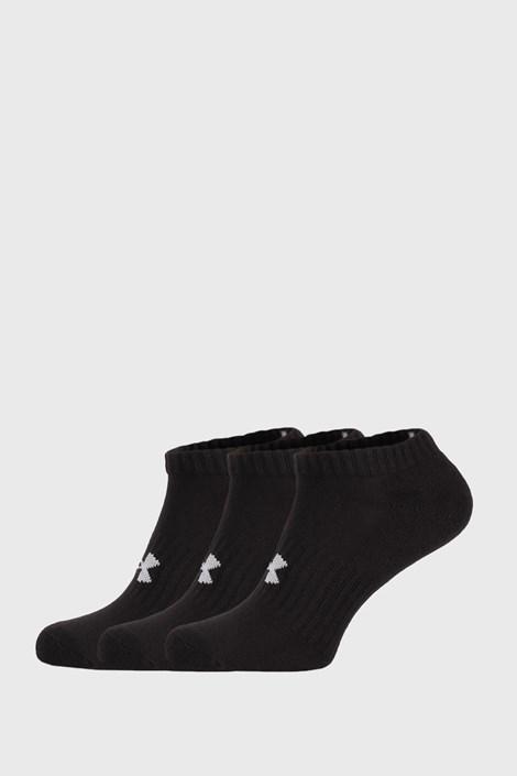 3 PACK niskih crnih čarapa Core Under Armour