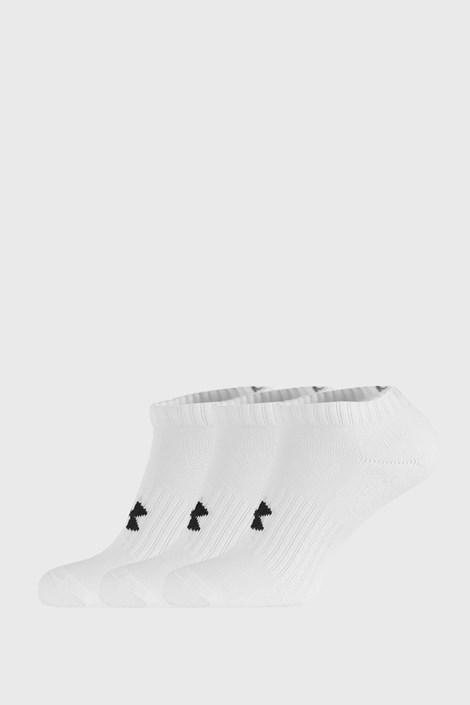 3 PACK niskih bijelih čarapa Core Under Armour