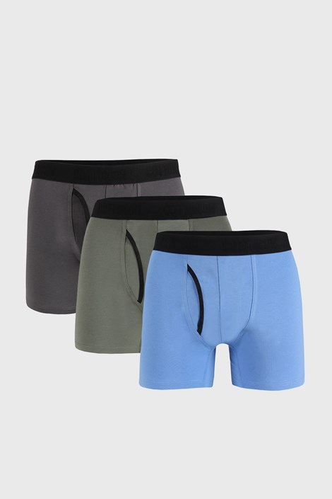 3 PACK plavo-sivih bokserica Organic Cotton