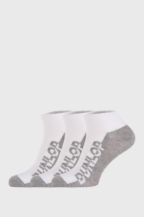 3 PACK bijelih čarapa Dunlop