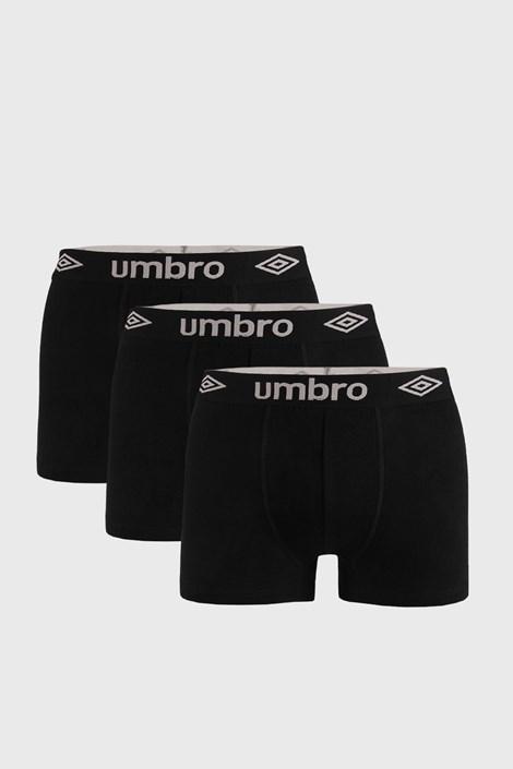 3 PACK crnih bokserica Umbro Organic pamuk